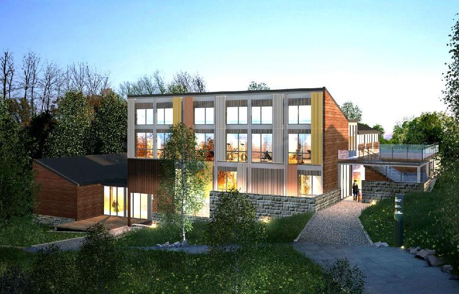 刘主席一行领导对天丰钢结构绿色住宅保障房体系